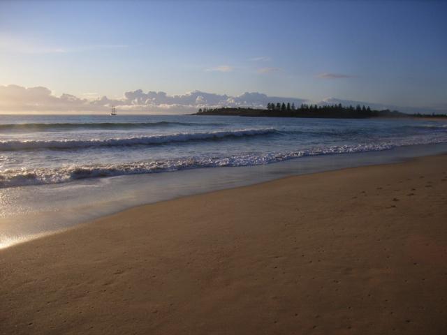 Beach fishing at Moorheads Beach