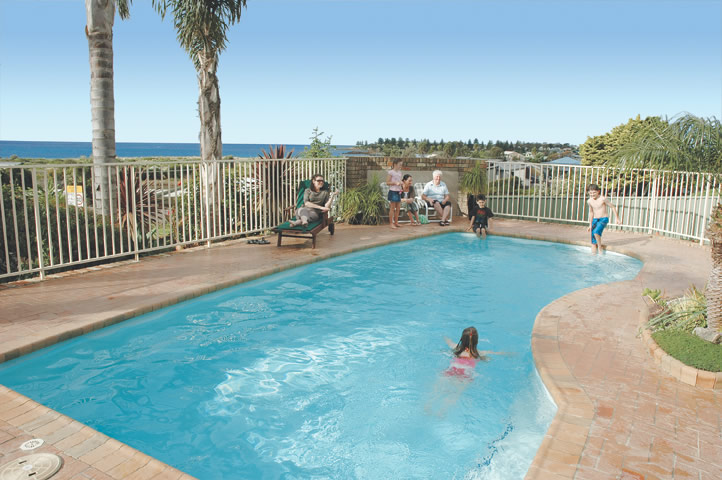 Saltwater heated pool